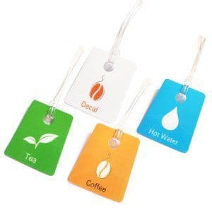 Coffee/Beverage Labels (Bevvies) - Mixed pack of 8 tags